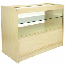 SHOP COUNTER Maple RETAIL Display Storage Cabinet VETRO VETRINA SCAFFALI C1200
