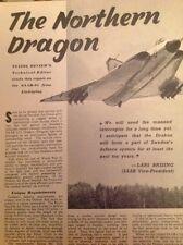 L4-3 Ephemera 1959 Article Saab 35a Draken Aeroplane Linkoping