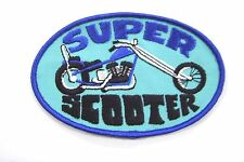 New Vintage Super Scooter Embroider Motorcycle Patch (NOS)