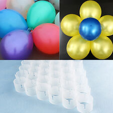 50Pcs Decorative Balloon Connectors Clips DIY Arch Wedding Party Prom Goodish