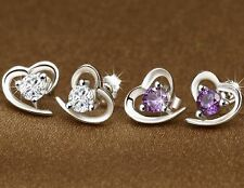 Heart Shape Earings- Stud (Purpel) Dussehra