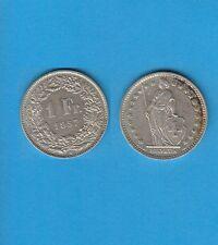 § Suisse Swiss Confédération Helvétique 1 Franc en argent 1957