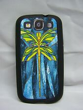 STAINED GLASS IMAGE DRAGONFLY #1 FITS Samsung Galaxy S3 i 9300 Phone Cover Case