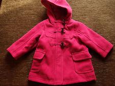 Girls Fuchsia Winter Coat 6-9 Months 74cm Height Brand New