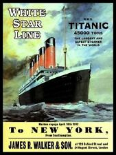 New WHITE STAR LINE TITANIC enamel style tin metal advertising wall sign 30x40cm