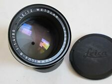 "Leica R 80mm f:1.4 Summilux E67 lens with caps MINTY ""LQQK"""