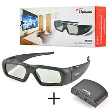Original Optoma Active Shutter 3D Glasses ZF2300 Starter Kit with Emitter