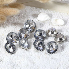 20mm x10pcs CLEAR (SB1) UPHOLSTERY Sofa Buttons Faceted Glass Crystal Diamante