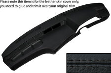 BLACK STITCH DASH DASHBOARD LEATHER SKIN COVER FITS BMW 6 SERIES E24 82-87
