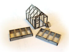 LASER CUT GREENHOUSE & COLD FRAMES OO SCALE / 1:76 MODEL RAILWAY - LX016-OO
