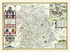 Limited Edition 1000 Piece Jigsaw Puzzle Map of Shropshire 1611 by John Speed