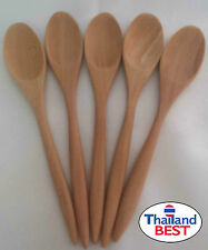 LOT5 WOODEN SPOON SMALL NATURAL 100% COFFEE TEA COOKWARE UTENSILS KIDS HANDCRAFT