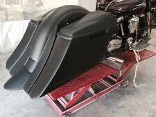 """Road Star 6"""" down & out Stretched Saddlebags replacement fende lids Fits 99 & up"""