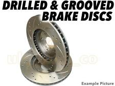 Drilled & Grooved FRONT Brake Discs For SUBARU IMPREZA Saloon 2.0 Turbo GT 98-00