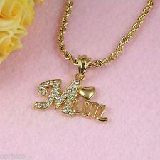 N3 18K GOLD FILLED MAMMA ciondolo collana con cristalli Swarovski-Confezione regalo