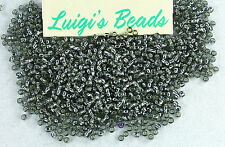 11/0 Round TOHO Japanese Glass Seed Beads #29B-Silver-Lined Gray 15g