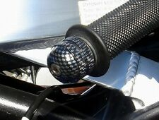 Carbon Knurled Bar Ends / Sliders GSXR SV1000 TL SV650 CBR RC51 Monster GSX-R
