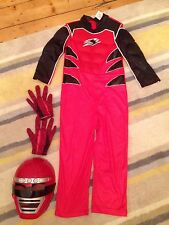 Boys Red Power Ranger Costume 4-6 Years By Rubies