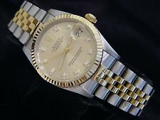 Midsize Rolex 18K Yellow Gold/Stainless Steel Datejust FACTORY DIAMOND 68273