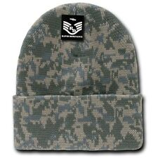 Universal Digital Army Hunting Camo Camouflage Ski Winter Cuff Beanie Hat Hats