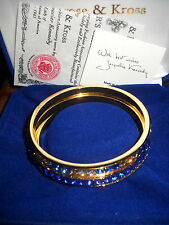Camrose & Kross Jacqueline Kennedy Set of 3 Simulated Sapphire Bangle Bracelets