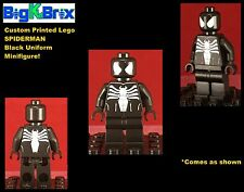 SPIDERMAN Black Suit Marvel Custom Printed LEGO Minifigure NO DECALS USED!