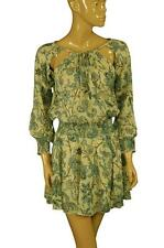 99917 New Denim & Supply Ralph Lauren Printed Smocked Cotton Dress XXS US