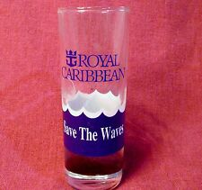 "Royal Caribbean Cruise Line Shot Glass Shooter Save the Waves 4"" Tall"