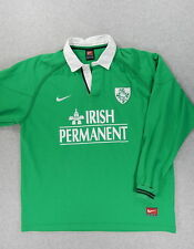 Ireland National Team Nike Stitched Logo Long Sleeve Rugby Jersey (Adult XL)