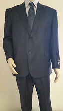 Men's Premium Quality Black PinStripe Modern Fit Dress Suits Brand New Suit 48 R