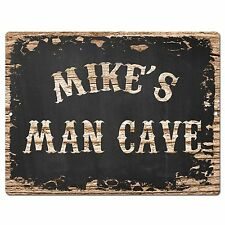 PP1853 MIKE'S MAN CAVE Plate Chic Sign Home Room Garage Decor Birthday Gift