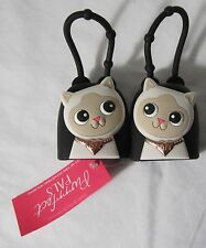 Bath & and Body Works PocketBac Holder Black White Cats Purrfect Pals BFF Set 2