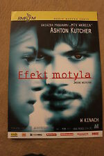 The Butterfly Effect (2004) Polish promo FLYER