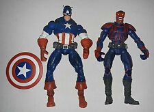 Marvel legends Face off Captain america and Red skull figures