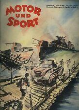 Auto Zeitschrift Motor und Sport Ausgabe A 13. April 1941 Heft 15