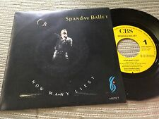 "SPANDAU BALLET SPANISH 7"" SINGLE SPAIN ONE SIDED CBS 87 HOW MANY LIES"