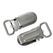 Lot 30 Metal Suspender Pacifier Holder Mitten Clips Tone Silver Ring Length New