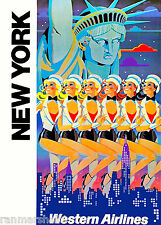 Statue of Liberty Rockettes New York United States Travel Advertisement Poster