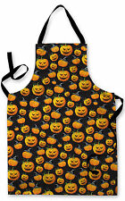 HALLOWEEN PUMPKIN BLACK DESIGN APRON KITCHEN BBQ COOKING PAINTING SPOOKY