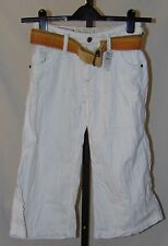 Z Brand Girls Youth Long Shorts Off White with Belt Size 10 MSRP $73 NWT 1482