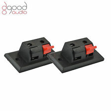 2x Spring Clip Speaker Box Binding Post / Terminal / Panel / Socket / Connector