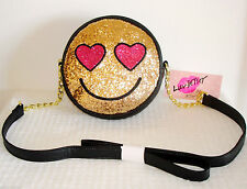 NWT Betsey Johnson Luv Betsey's Collection Smiley Face Sequin Cross Body Bag