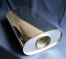 "89mm bore (3½"") 10x5 Oval x 16"" Long Universal Stainless steel exhaust silencer"