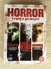 Horror Boxset - Skew / House Of Bones / Underground DVD; NEW, FACTORY SEALED