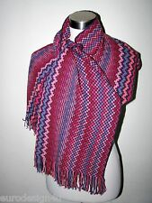 NWT MISSONI ZigZag LONG KNIT WOOL BLENDED SCARF ORANGE LBL made in Italy
