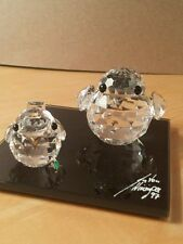 Swarovski Crystal LARGE AND SMALL Sparrow Retired