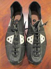 VINTAGE OLD SCHOOL RETRO SIDI ROAD TRACK CYCLING SHOES WITH CLEATS SIZE 38