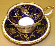 Aynsley Georgian Cobalt 8028 Cup and Saucer