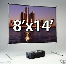 DA-LITE FAST-FOLD DELUXE 8'x14' WITH DA-MAT FRONT PROJECTION SURFACE 39310 NEW