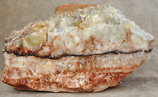 Tri-Colored Calcite Green White Red Display Specimen Mexico 4 lbs 6 ozs